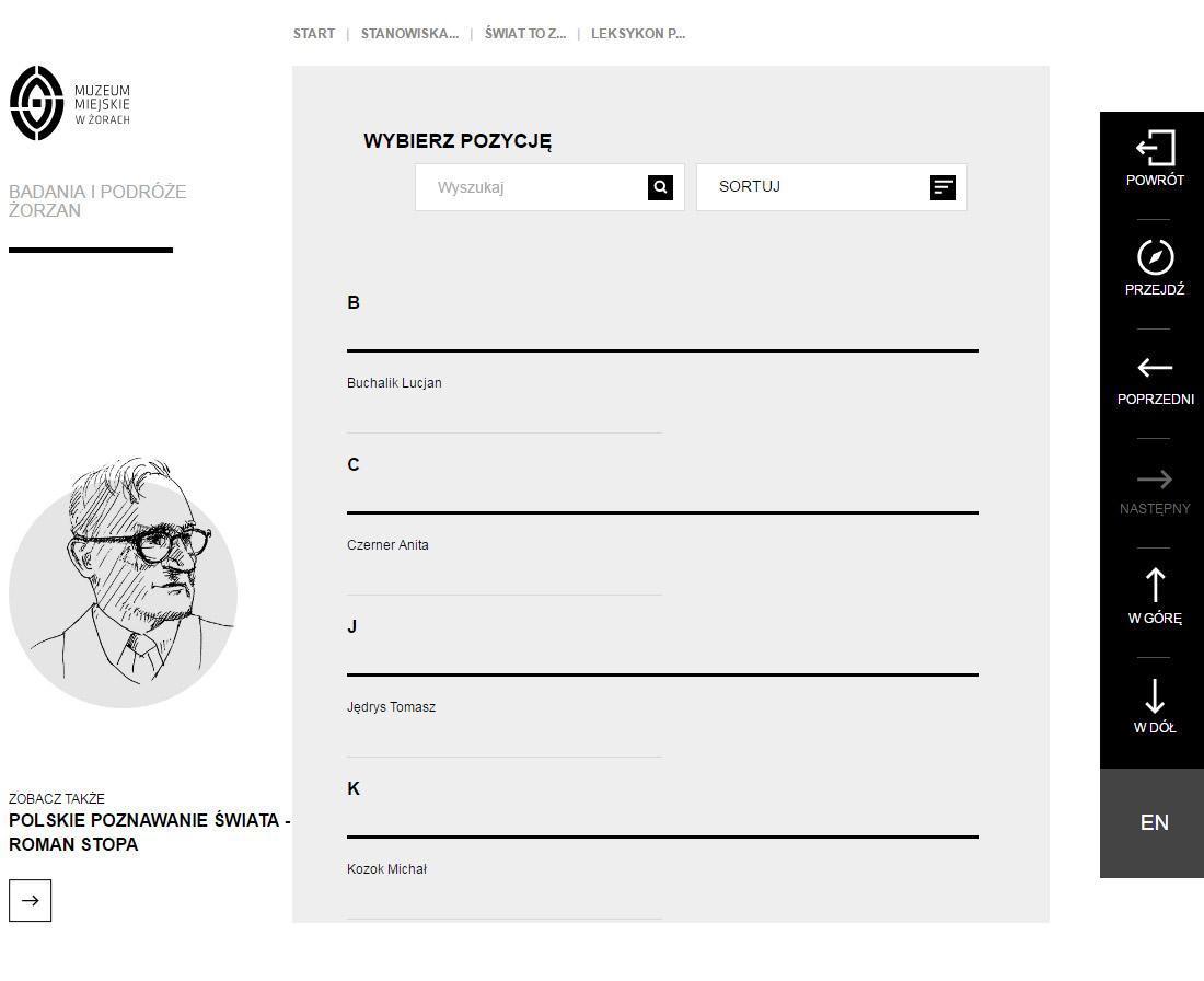 Serwis internetowy - wirtualna wystawa