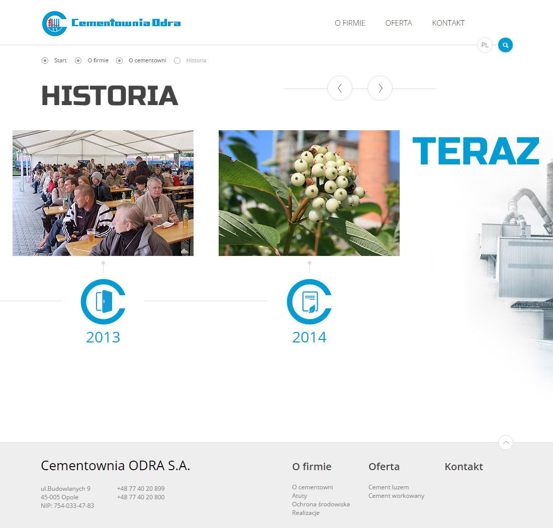 Strona www Opole - historia firmy