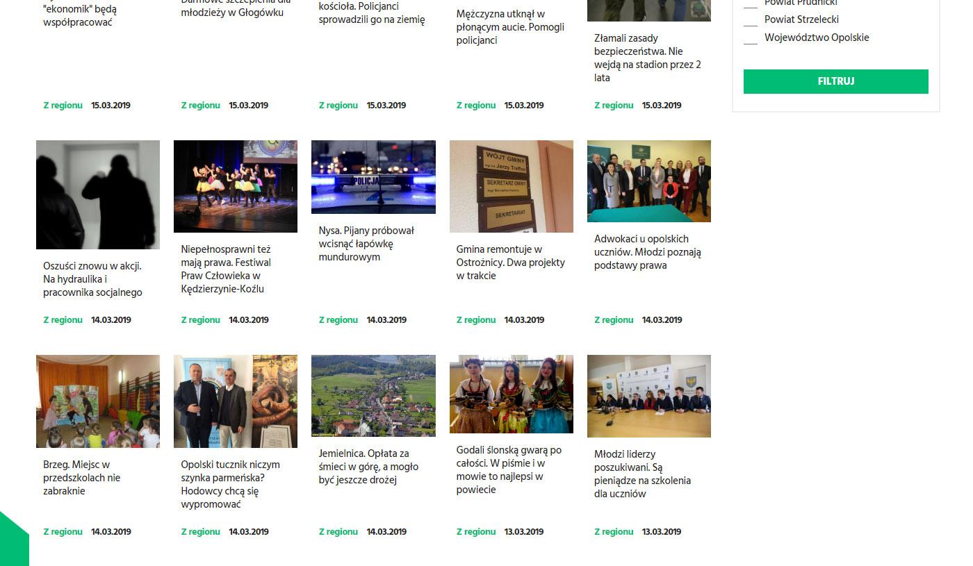 Wydarzenie w portalu www