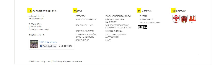 Projekt nawigacji strony www