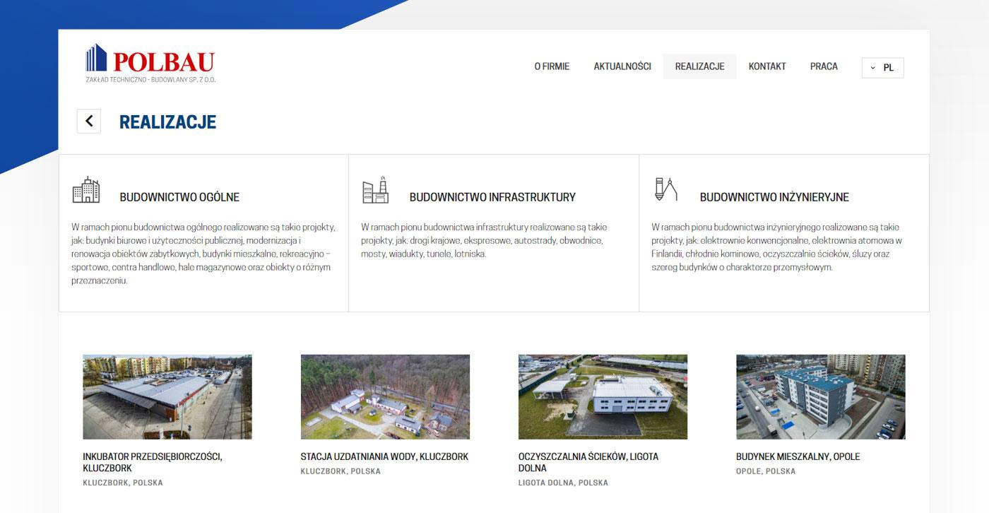 strona www, realizacje