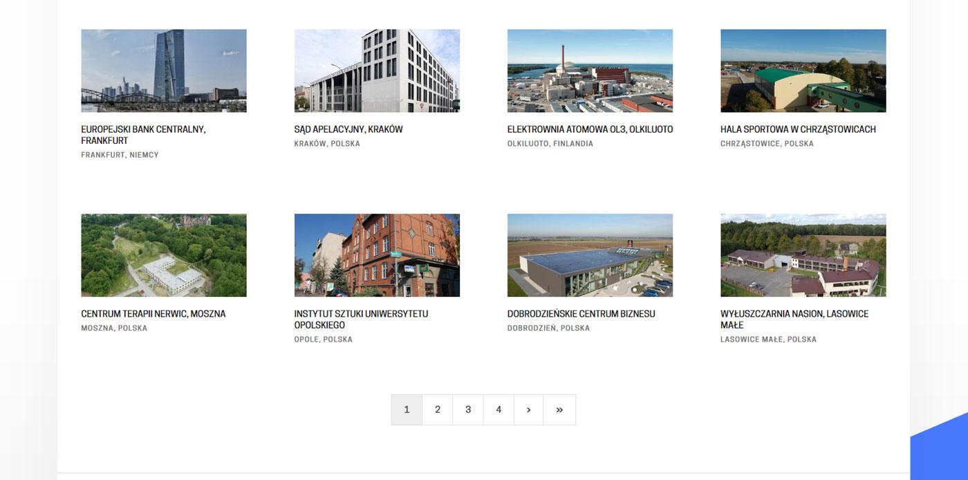 strona www, realizacje portfolio na stronie