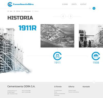 Historia firmy z opola na stronie www