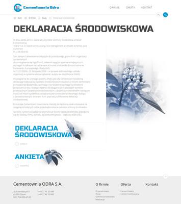 Podstrony informacyjne na www