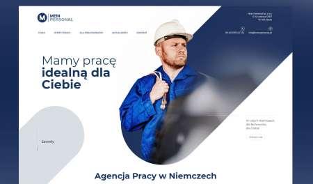 Widok strony głównej serwisu www