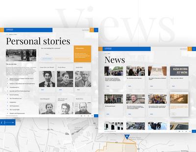 Widoki serwisu internetowego