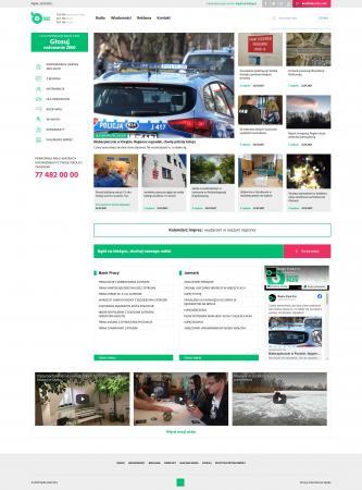 Interfejs strony głównej portalu