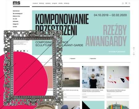 Portal internatowy dla muzeum z Łodzi
