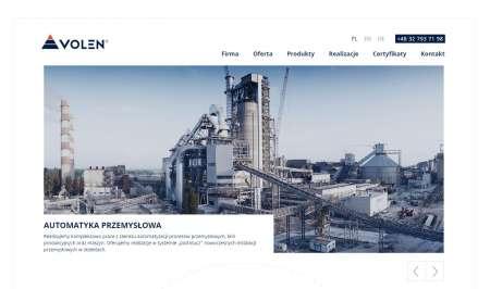 Widok home - strona internetowa Katowice