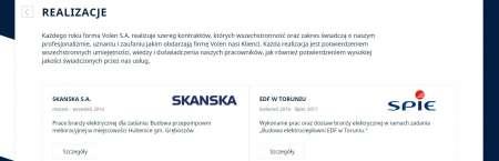 Realizacje firmy na stronie internetowej